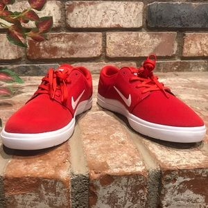 Nike red sneakers. Never worn.